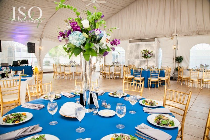 Elevated Centerpiece Designs I Nature of Design with Janet Flowers I Blue Wedding