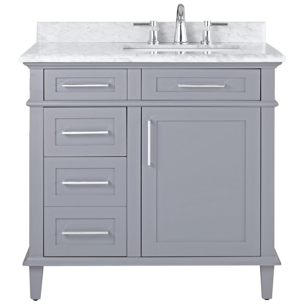 36 Inch Windsor Park Cream Vanity Home Depot Bathroom White Vanity Bathroom 30 Inch Bathroom Vanity