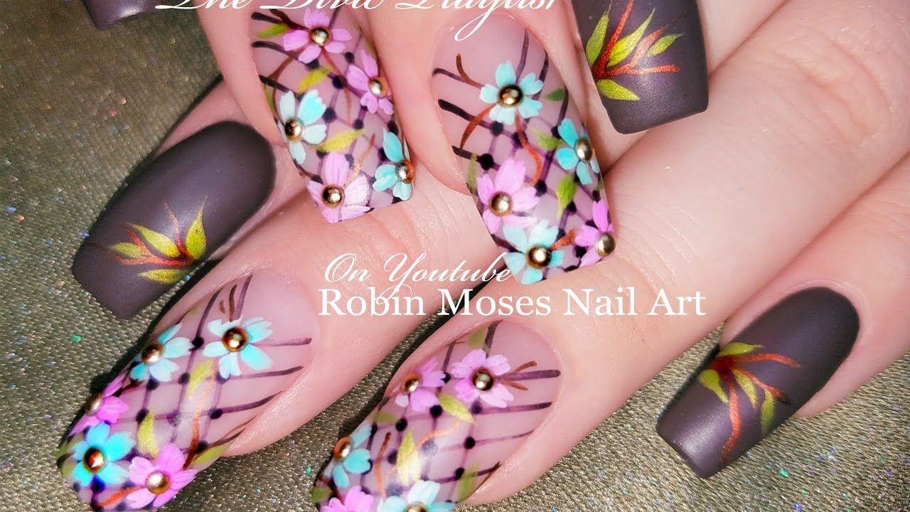 Pastel Daisy Nails Diy Spring Flower Nail Art Design Tutorial