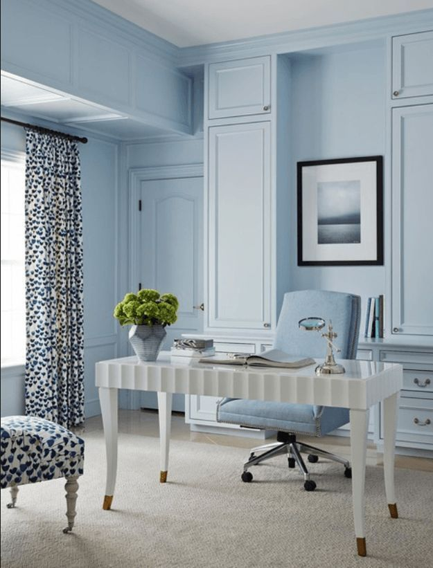 pantone airy blue blue home offices home office decor on blue office color id=95114