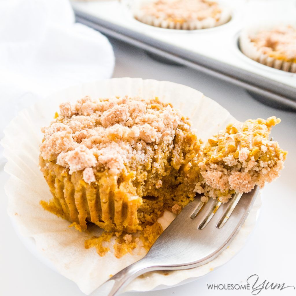 Pumpkin Pie Crumble Cupcakes Paleo Low Carb These Low Carb