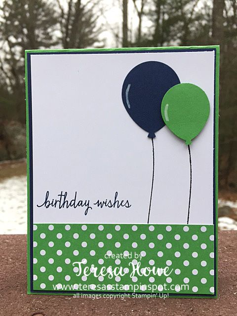Stampin Up! Build a Birthday stamp set, Balloon Celebrations stamp set