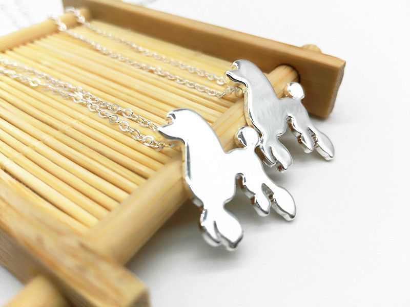 1pcs Cute Lovely Poodle Dog Necklace Women in pet lover animal jewelry accessories perfect valentines gift for animal lovers