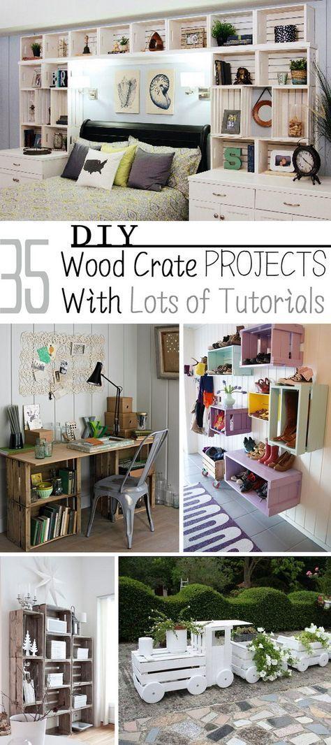 Photo of 35 DIY Holzkistenprojekte mit vielen Tutorials #woodendiy