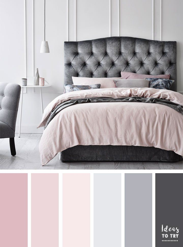 Blush And Grey Color Inspiration Bedroom Color Schemes Bedroom