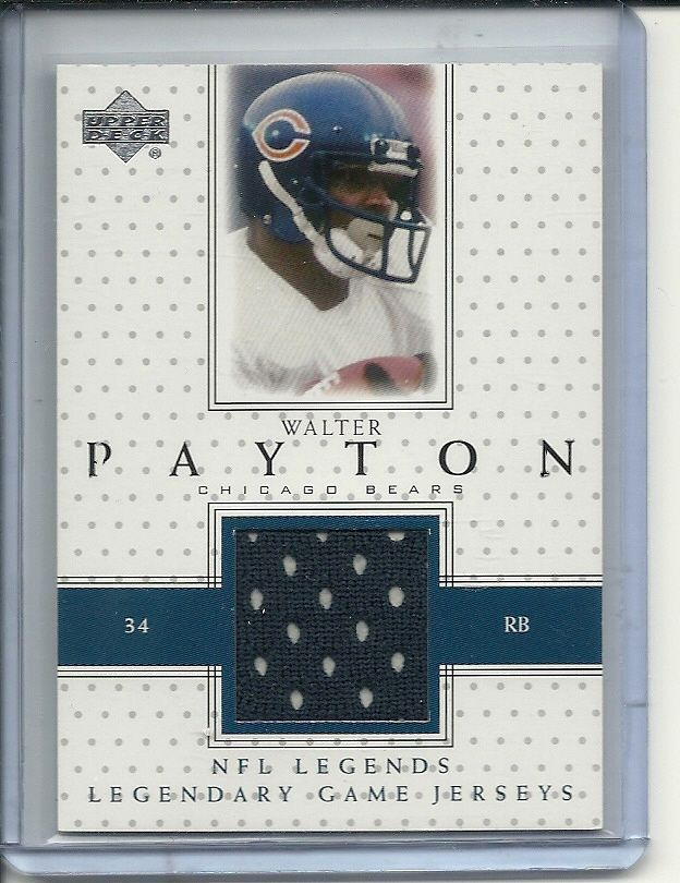 SOLD - 2000 (early) WALTER PAYTON GAME USED JERSEY CARD NFL LEGENDS CHICAGO BEARS #ChicagoBears