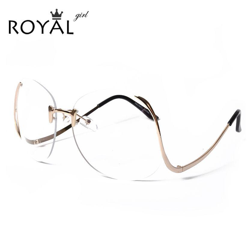 ROYAL GADIS 2016 BARU Unik Kacamata Wanita Rimless frame kacamata ...