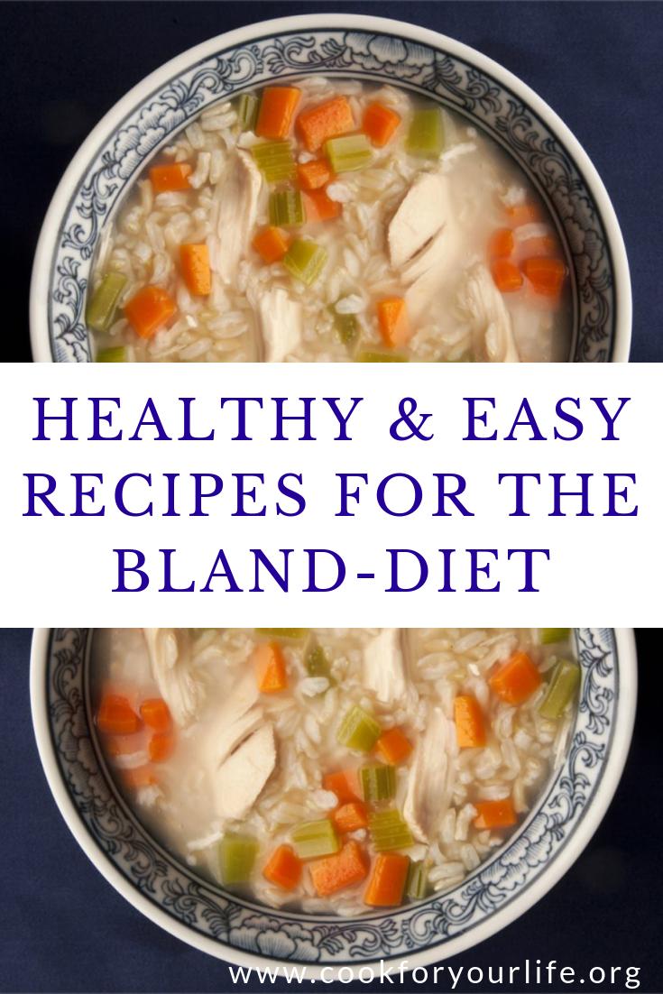 bland diet allowed foods