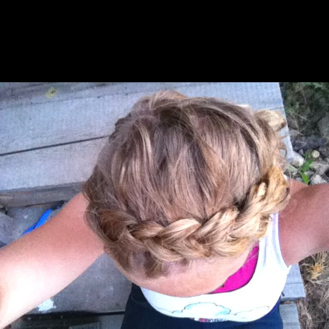 Chunky Frontal French braid and sun bleached hair:) my favorite
