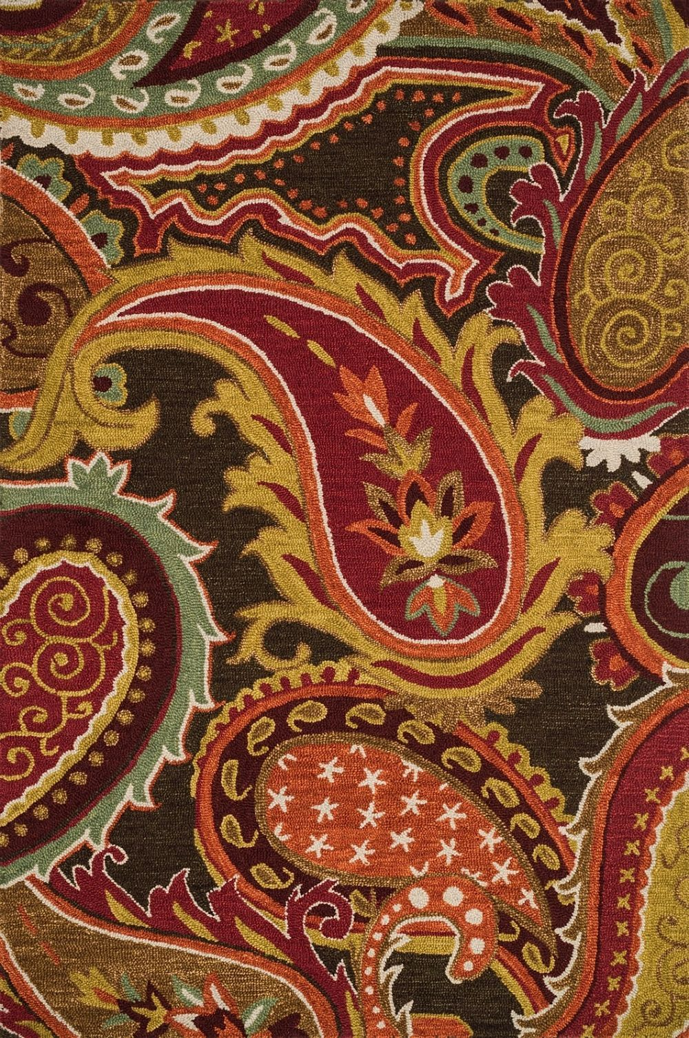 Transitional Rectangle Brown Multi Color Loloi Mayfield Collection