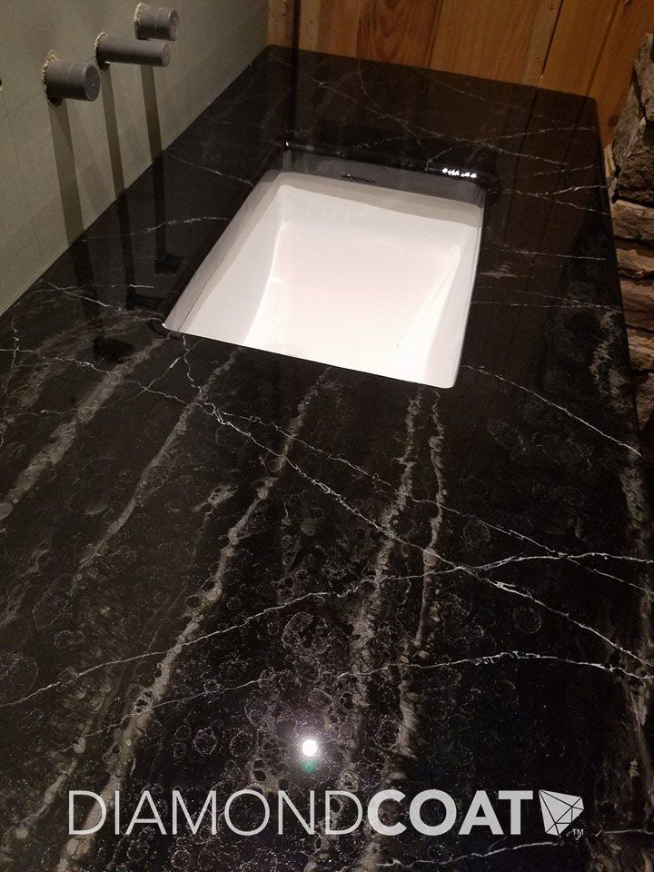 Black White And Gray Marble Veins Bathroom Vanity Gorgeous And