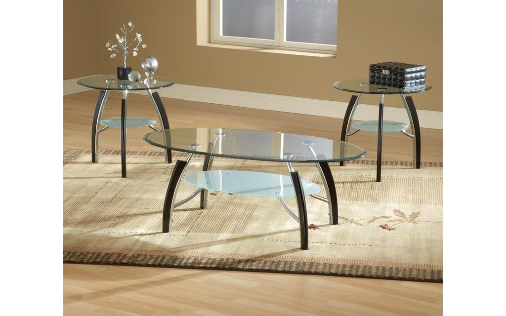Apollo Chrome Glass Coffee Table Set My Furniture Place