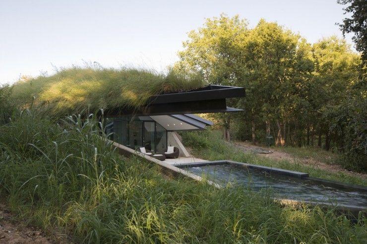 Exceptionnel Maison d'architecte semi-enterrée | Maison semi enterrée  XY13