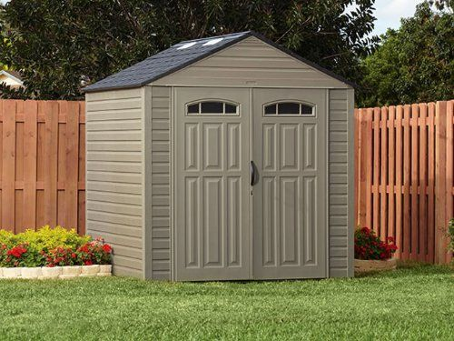rubbermaid roughneck 7x7 x large storage shed