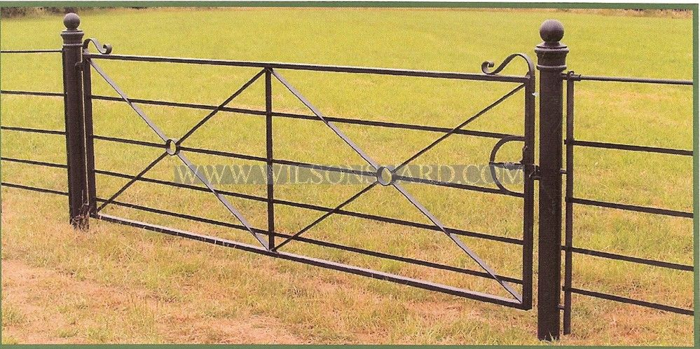 12ft Single Field Gate Farm Gate Farm Gate Entrance Gate Post