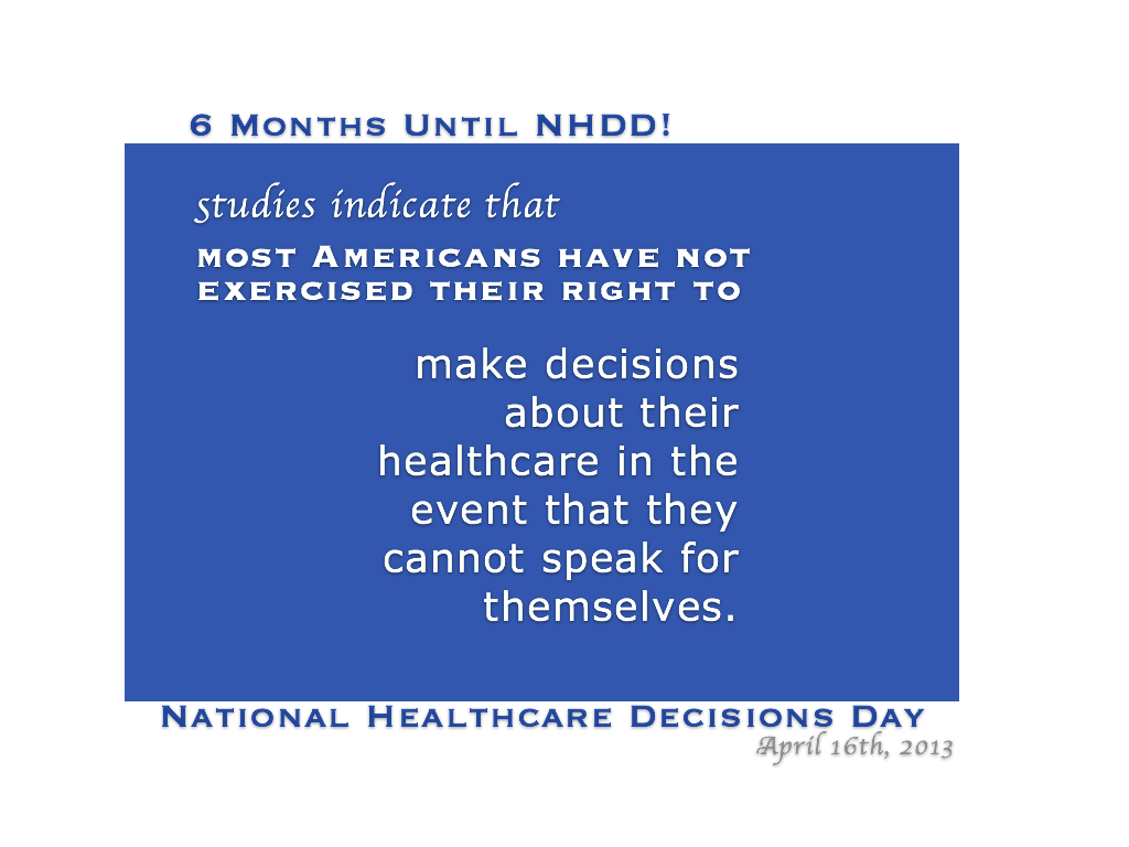 National Healthcare Decisions Day, April 16 (With images