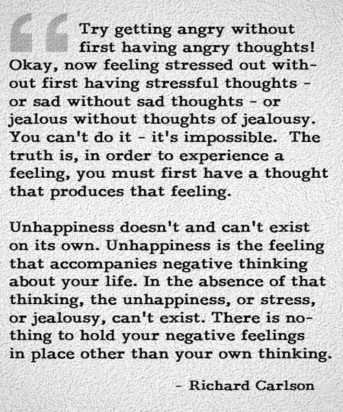 Nice Unhappiness And Negative Thinking   Life Quote