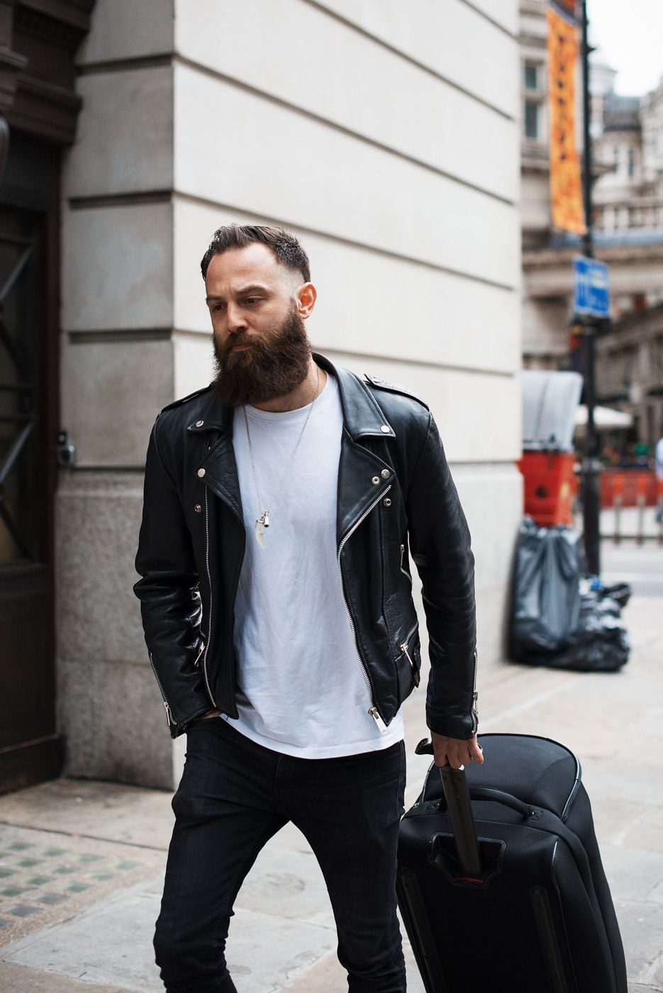 meninthistown: Crew. Similar look: Reclaimed Vintage Leather Biker ...