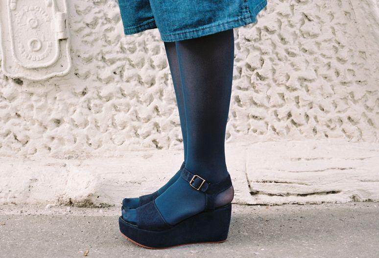 awesome pic of these navy vegan suede platforms  #vegan #vegetarian #shoes #platforms