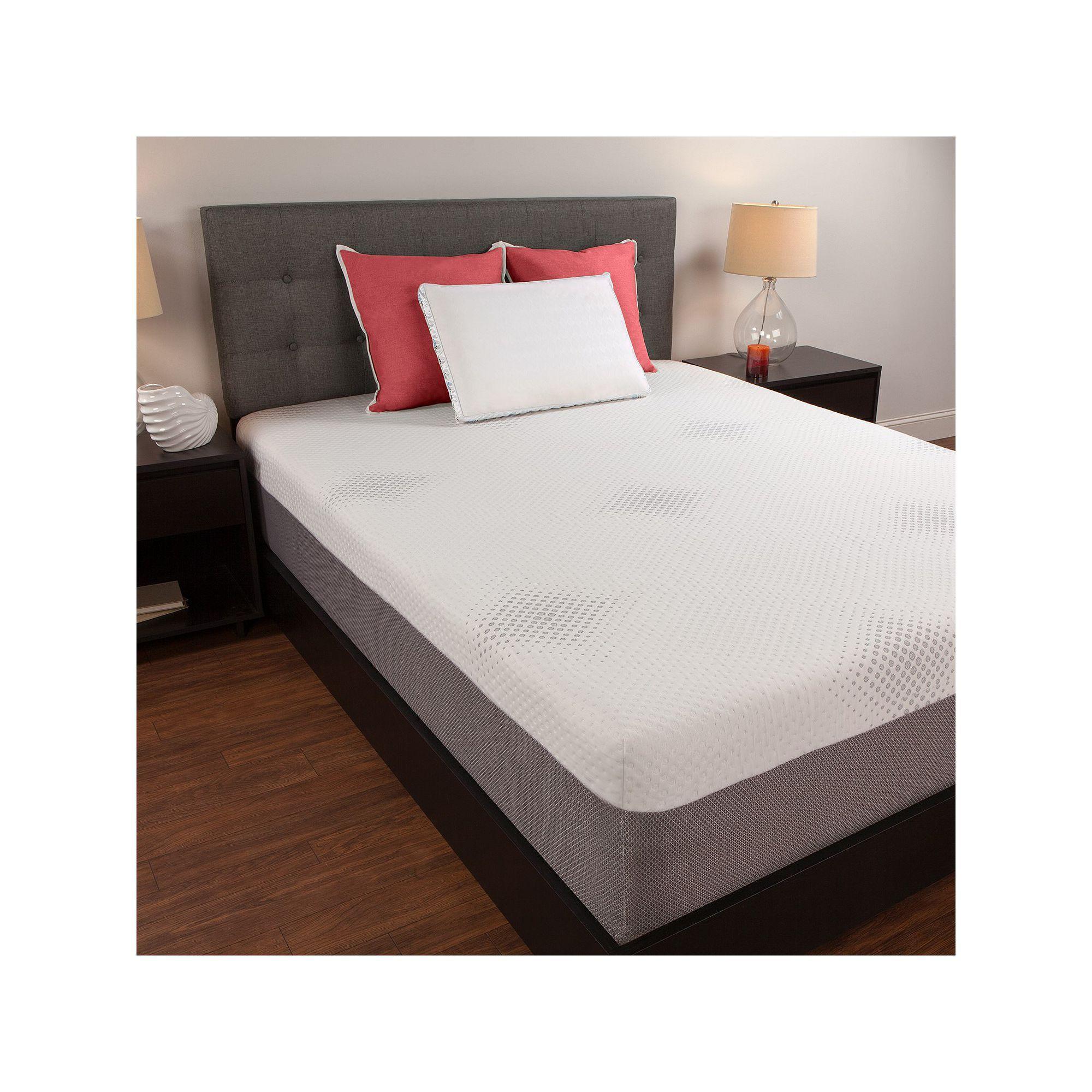 sealy 12in memory foam mattress white - Sealy Memory Foam Mattress