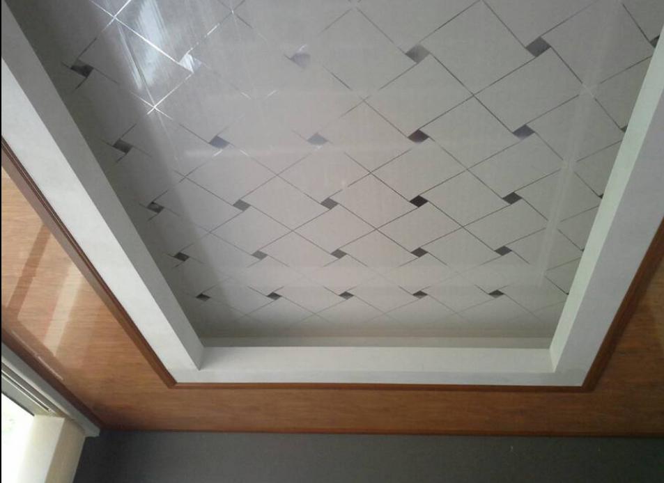 Pvc Deckengestaltung In Nigeria Di 2020 Minimalis Plafon Gypsum Dekorasi Ruang Keluarga