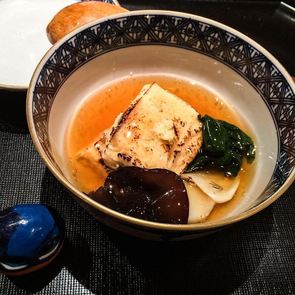Genuine Tofu dish. So delicious!! #mizumushikun #japan #japantrip #japanfocus #japanesefood #kyoto #kyotojapan #kyototrip #gion #tofu #tofusoap #soy #kaiseki #kaisekicuisine #kaisekiryori #kaisekidinner #arien #explore #food #foodie #foodphotography #food