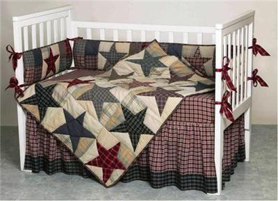 Primitive Baby Bedding Details About Stars Of America Primitive Quilt Crib Set Boy Or Girl Trendy Family Mu Trendy Baby Girl Names Crib Sets Baby Boy Bedding