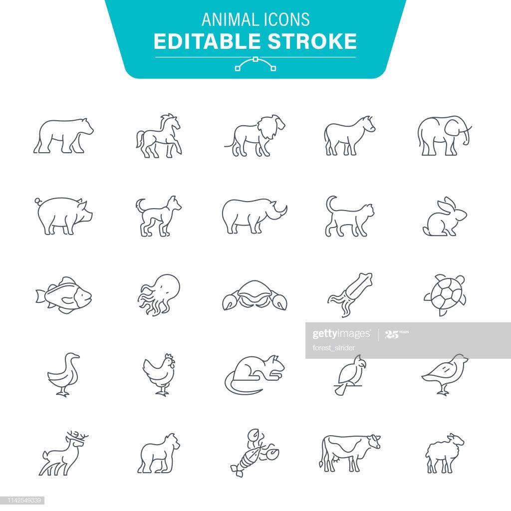 Animal Icons Illustration #Ad, , #SPONSORED, #Animal, #Icons, #Illustration