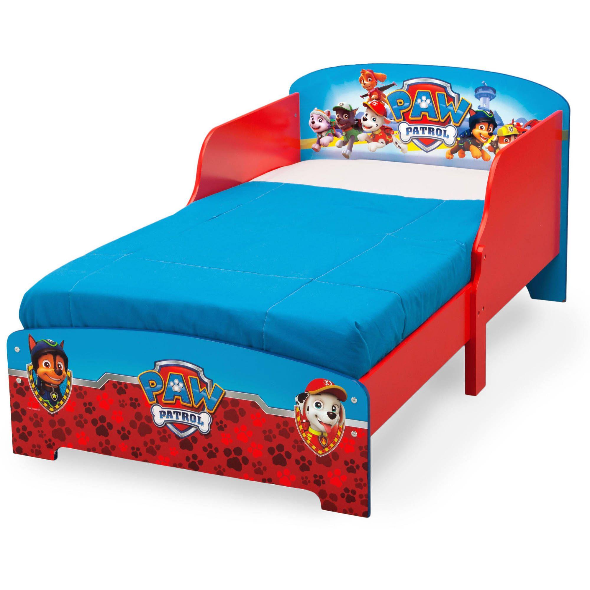 Paw Patrol Wooden Toddler Bed Walmartcom Toddler Bedroom For