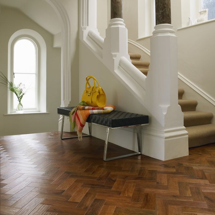 Kitchen And Hallway Flooring: Karndean Art Select Auburn Oak Herringbone