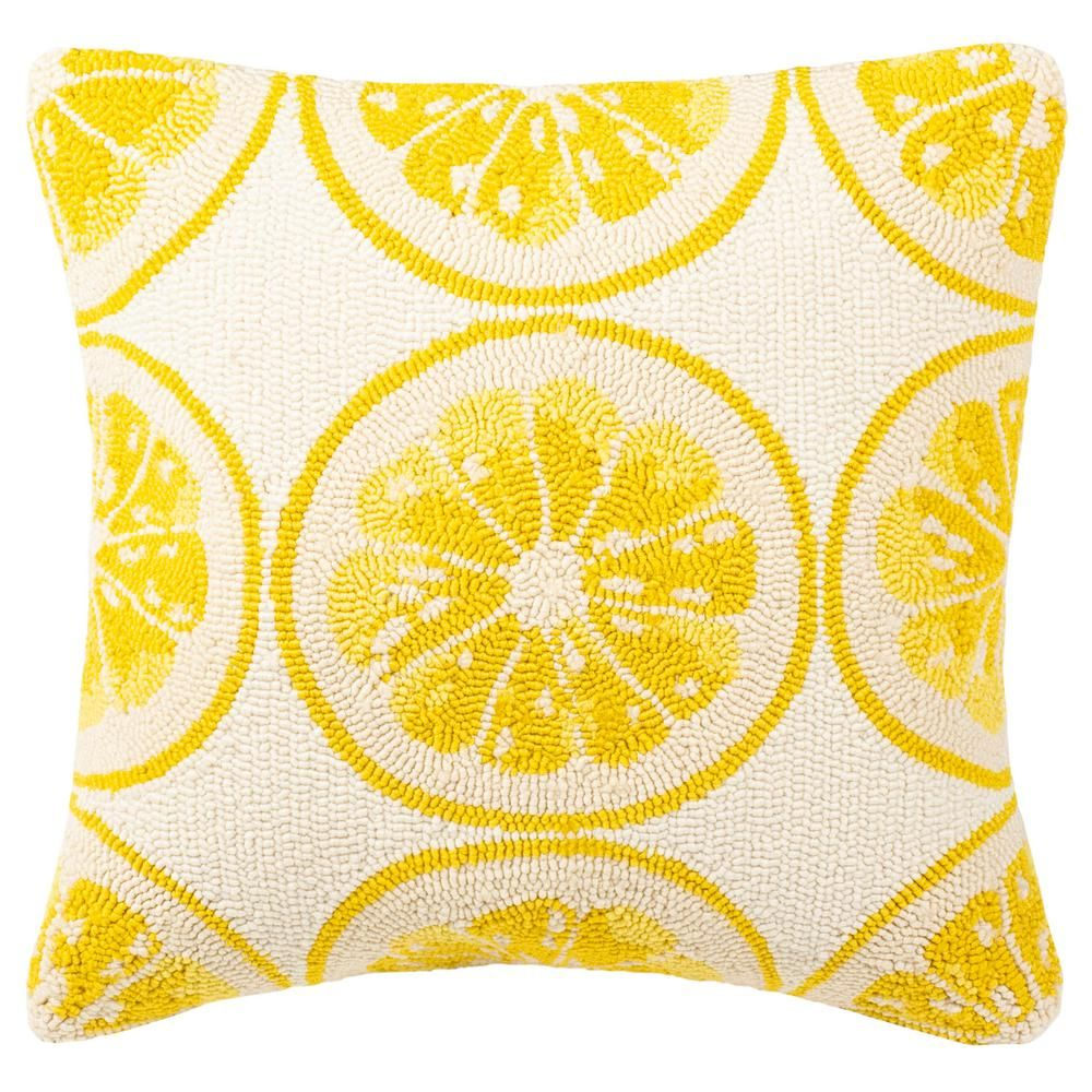 Yellow Outdoor Throw Pillows.Safavieh Lemon Squeeze Yellow With White Square Outdoor