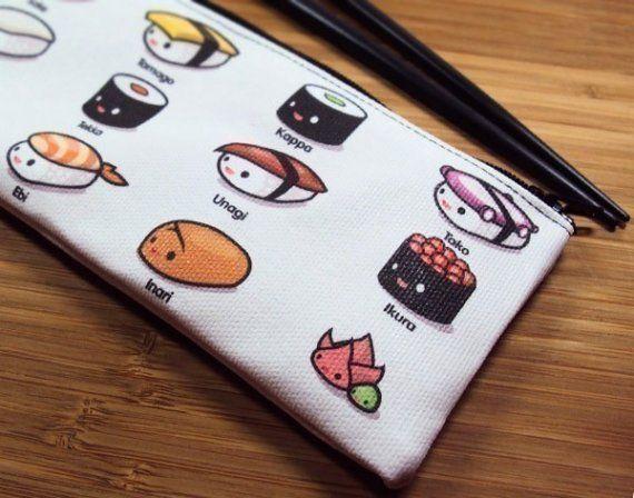Sushi Lovers Zipper Pouch