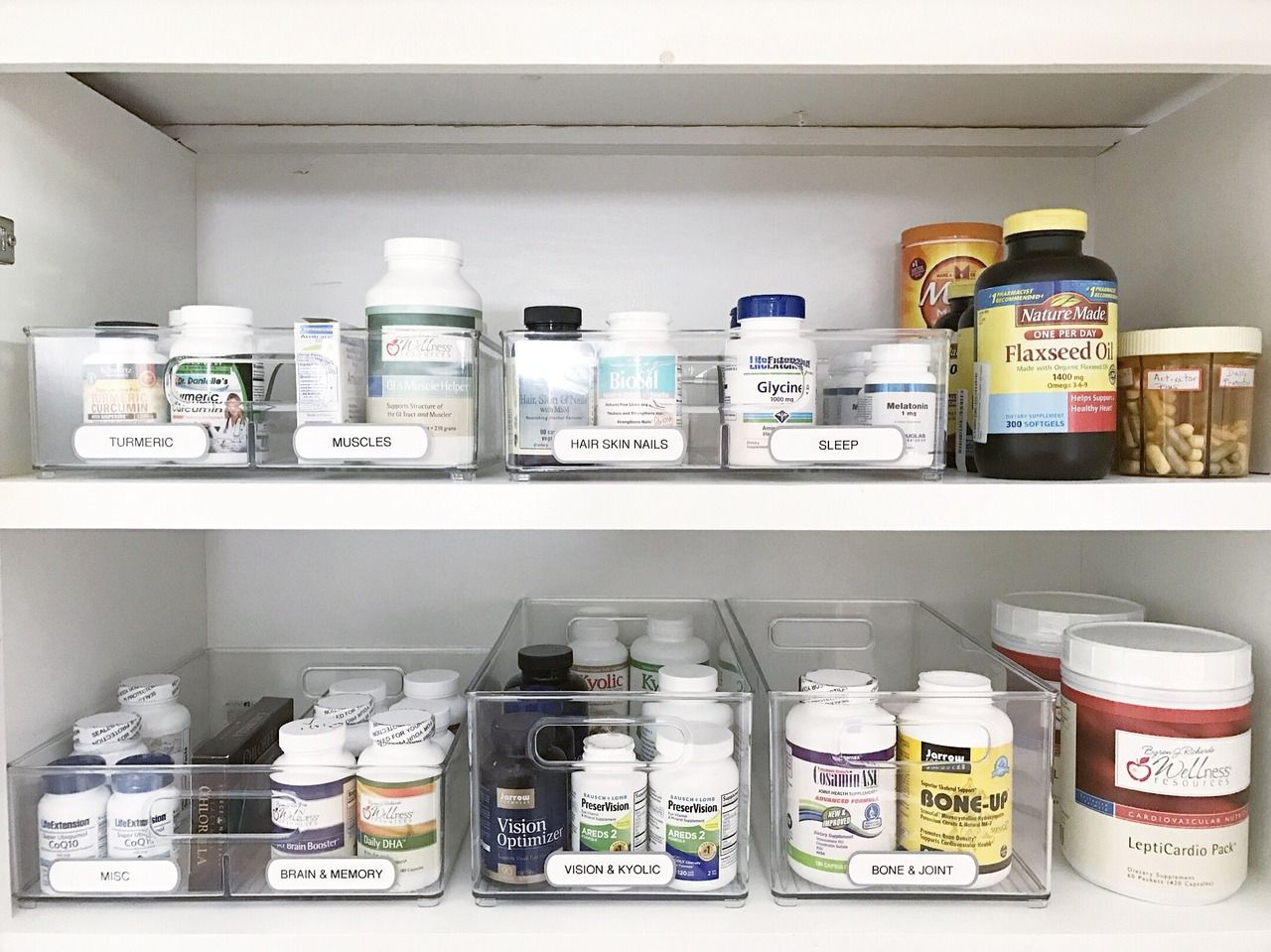 Simply Done: Simply Organized Vitamins and Supplements #cabinetorganization