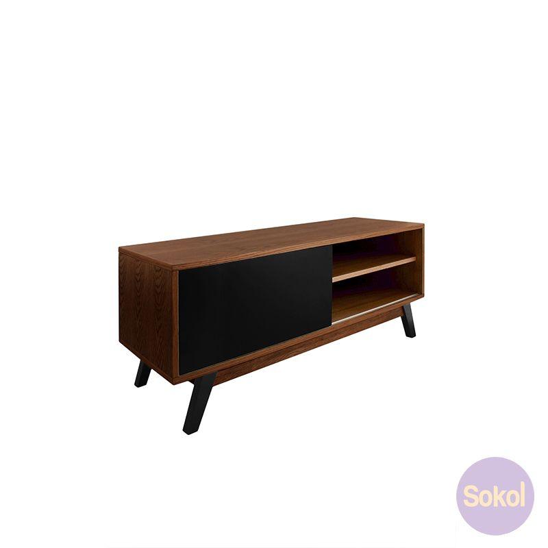 Varberg Collection   Axis TV Unit Walnut   Sokol Designer Furniture