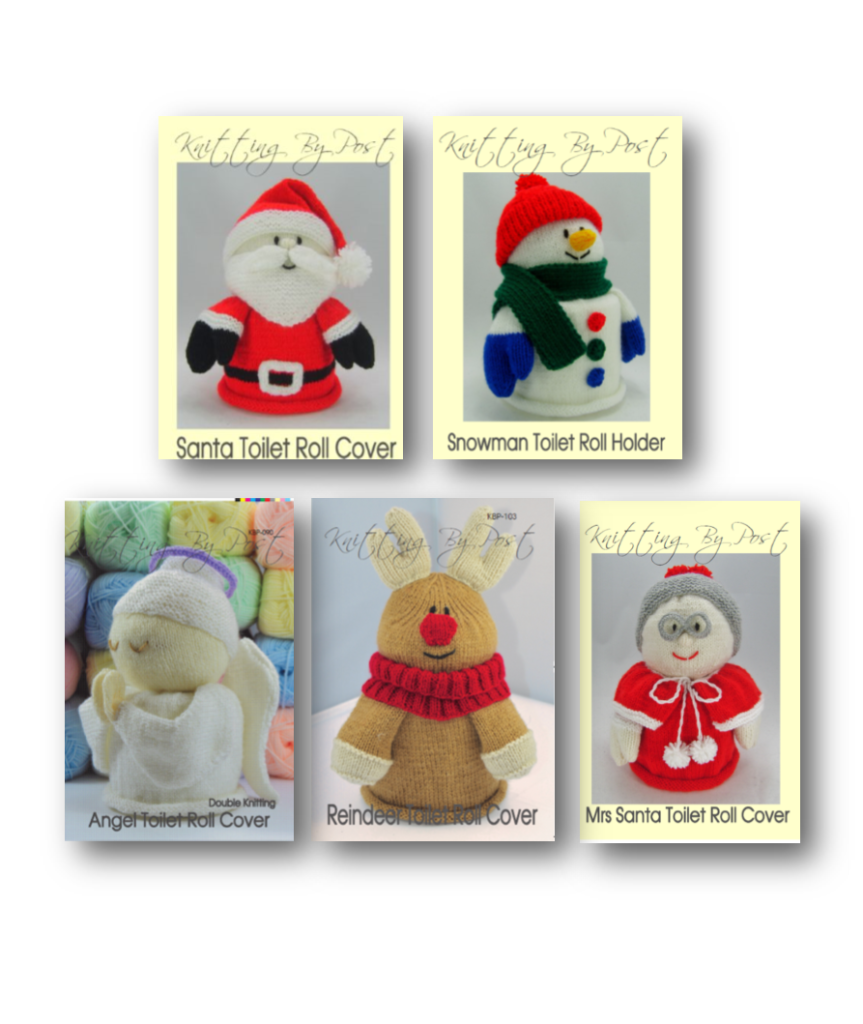 Christmas Toilet Roll Cover Knitting Patterns Collection