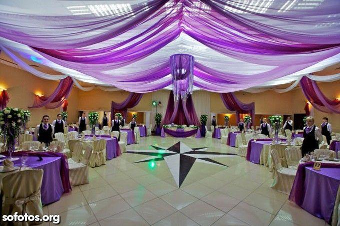 Decoração para casamento roxo