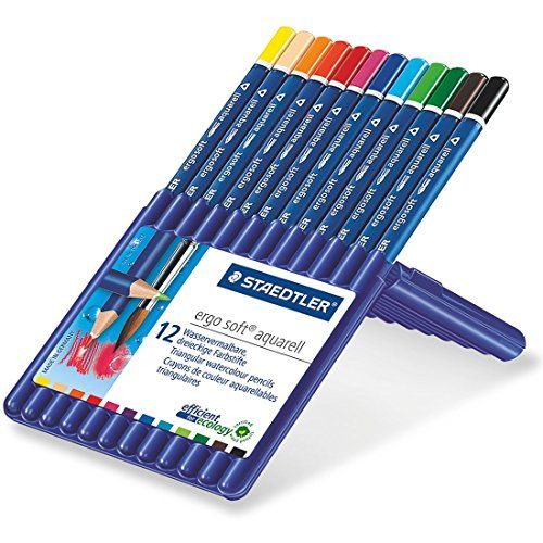 Staedtler Ergosoft Watercolor Pencils Set Of 12 Colors I