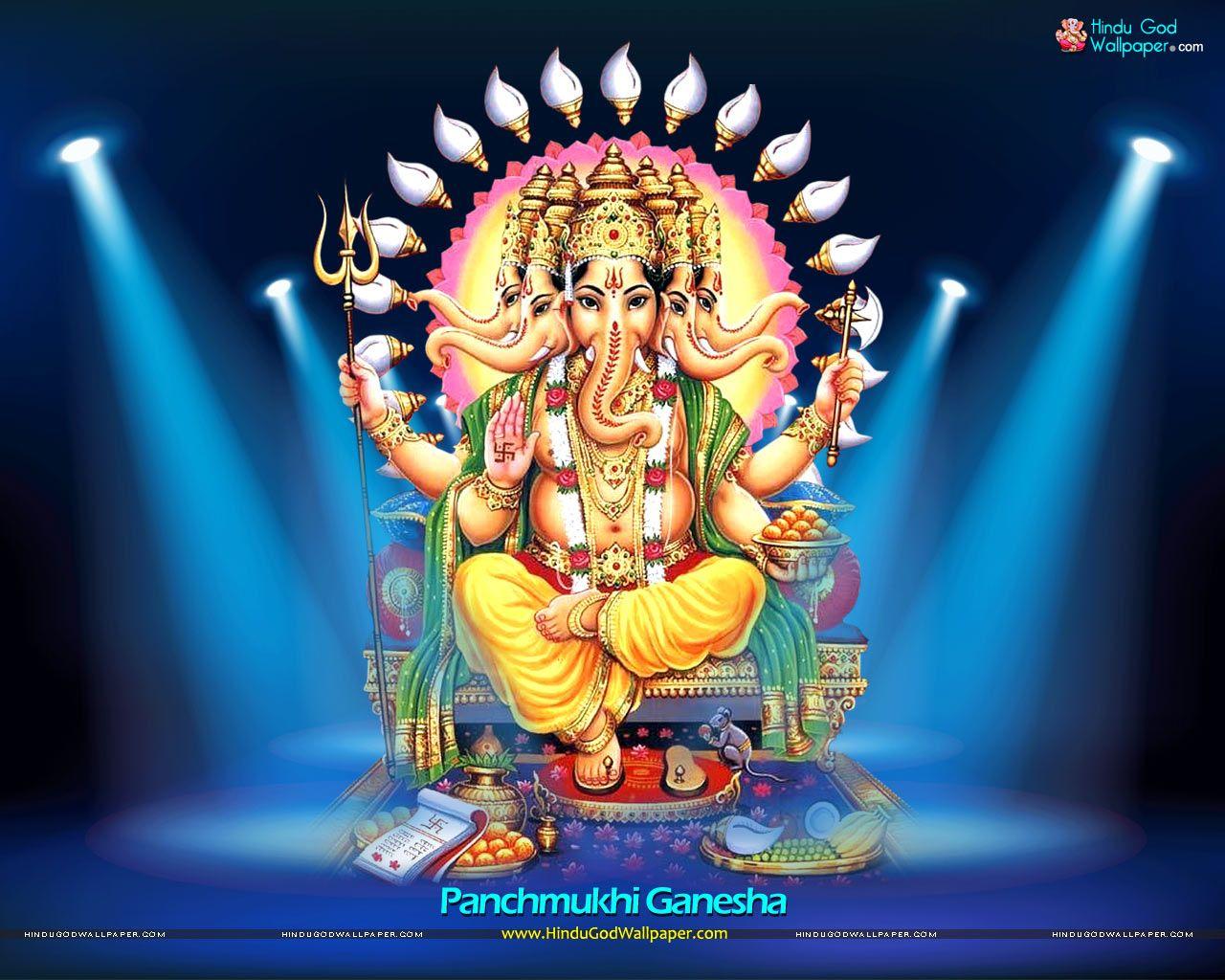 Pen Ganesh Murtidownload Hd: Five Head Ganesha Panchmukhi Wallpaper Free Download