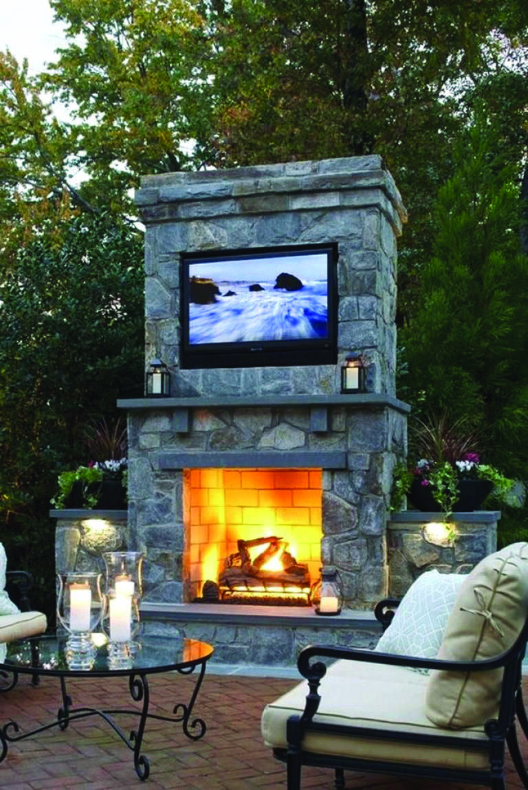 Fire Place Design Concepts For An Elegant Exterior Space Homes