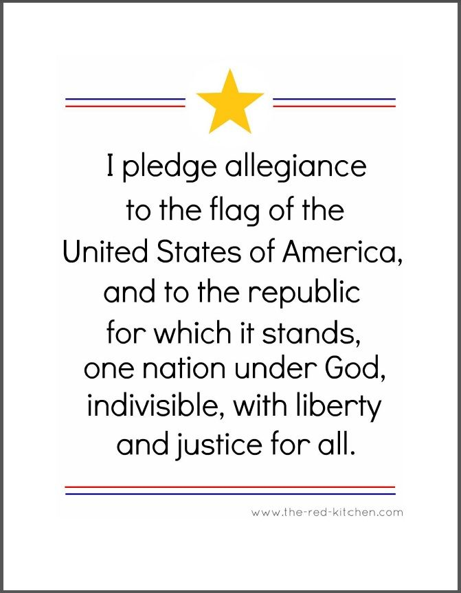 image about Pledge of Allegiance Printable referred to as The Pledge of Allegiance (Free of charge printables for residence and