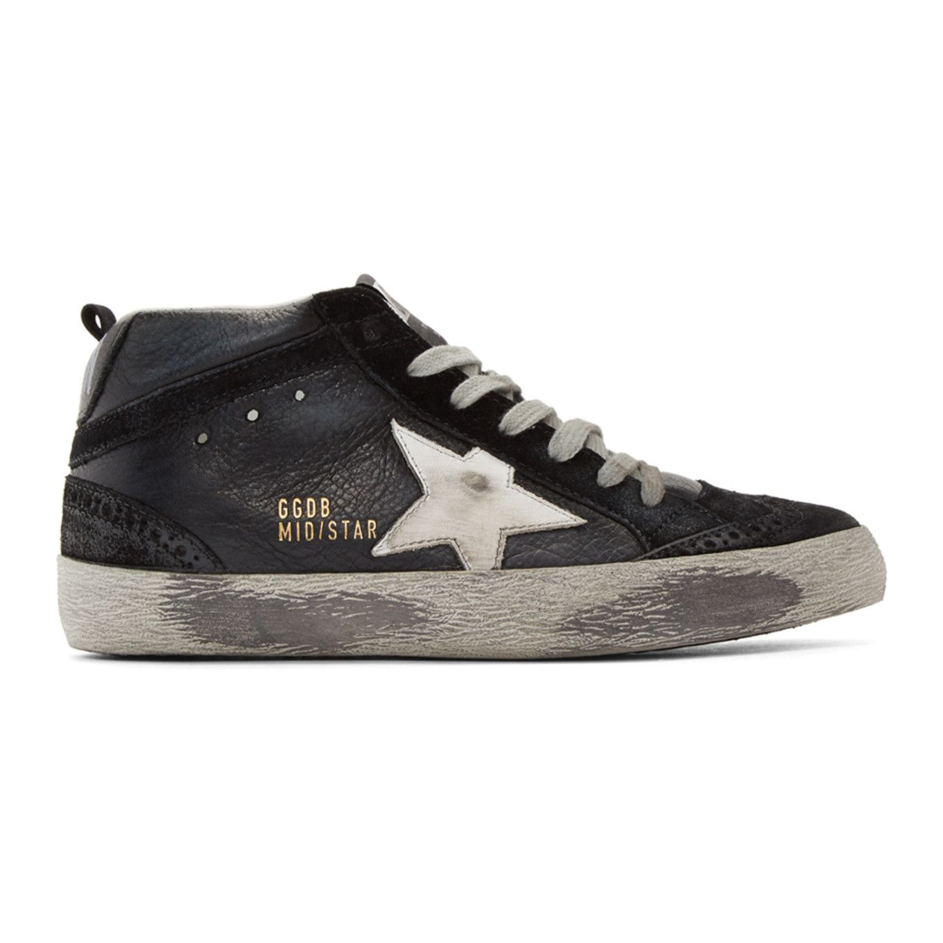Cool classic black golden goose sneakers sss fashion in