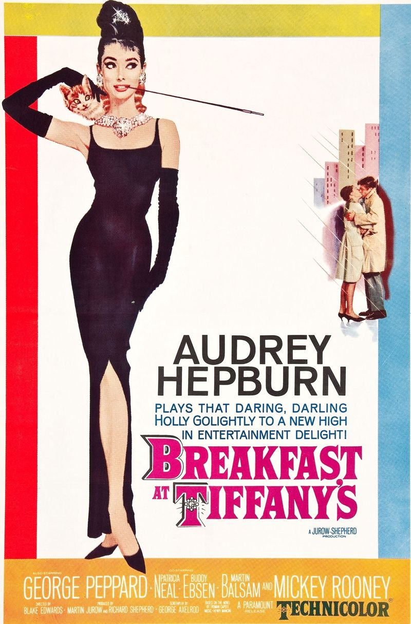 The one-sheet from BREAKFAST AT TIFFANY'S (1961), with key art by Robert McGinnis