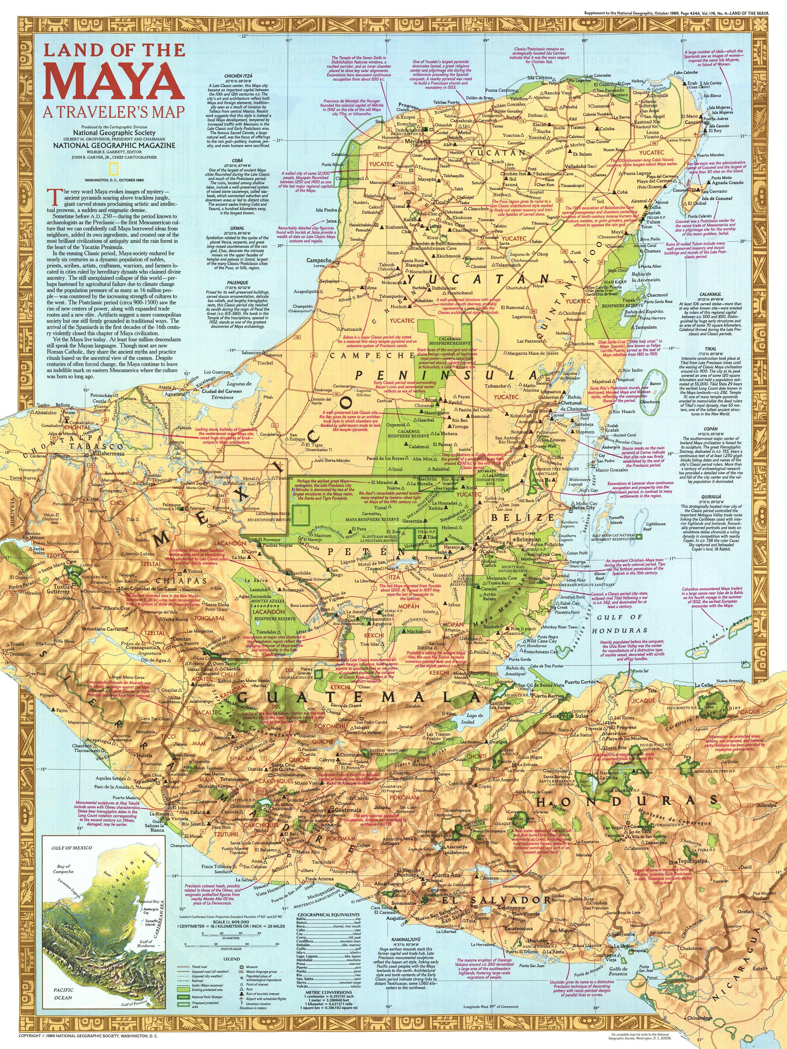 National Geographic Infografik Geschichte Maya