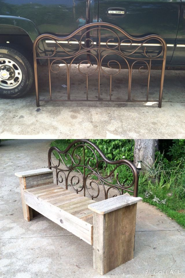 Around The Firepit Share My Love Of Farming And Diy Making Life Beautiful One In 2020 Repurposed Furniture Diy Repurposed Furniture Metal Headboard