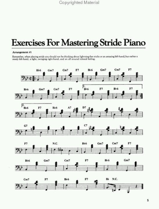 Stride Piano Good Exercise Piano Theory In 2018 Pinterest