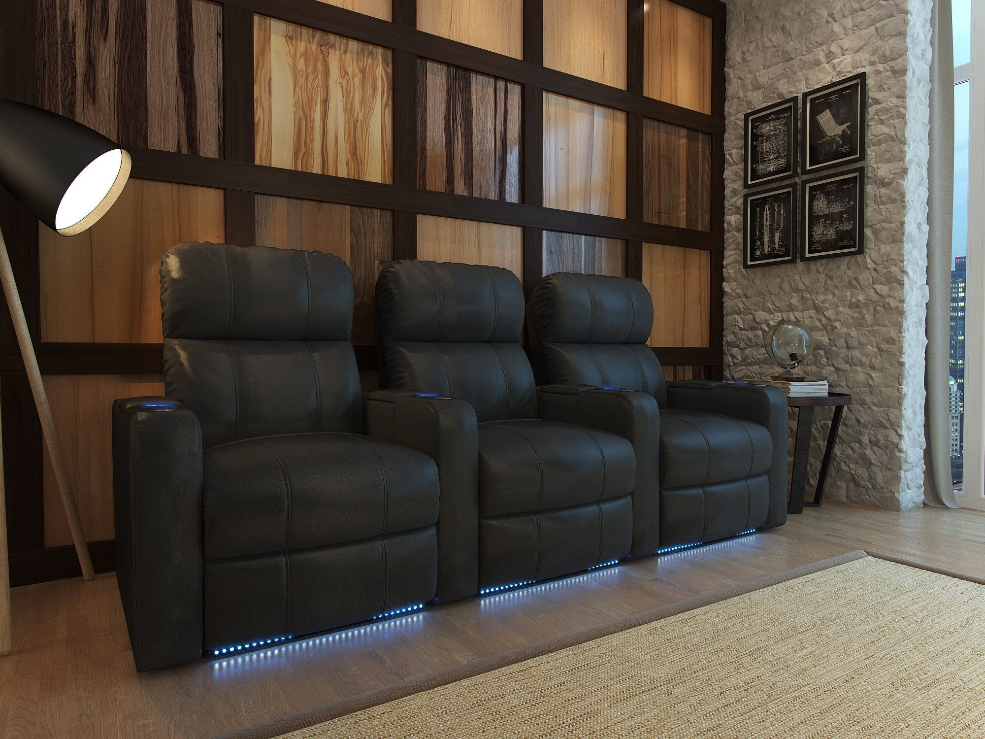 Home theater recliner row of home theater ideas pinterest