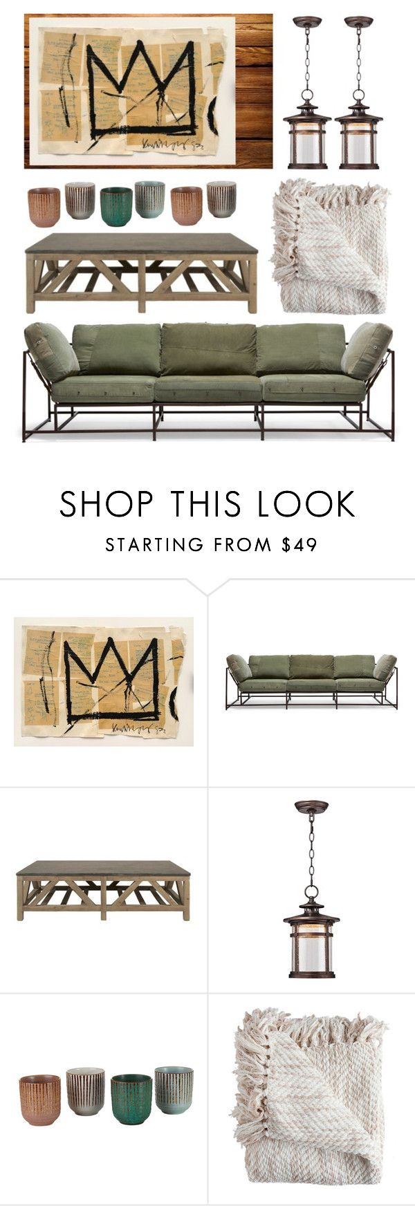 """""""genius basquiat"""" by foundlostme ❤ liked on Polyvore featuring interior, interiors, interior design, home, home decor, interior decorating, Stephen Kenn, Orient Express Furniture, Franklin Iron Works and Pols Potten"""