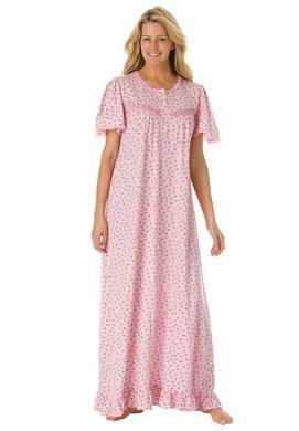long cotton knit gowndreams  co®  plus size sleep