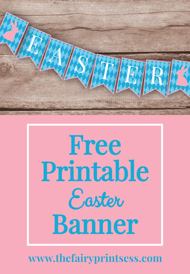 Free Printable Easter Banner - | Free printable easter ...