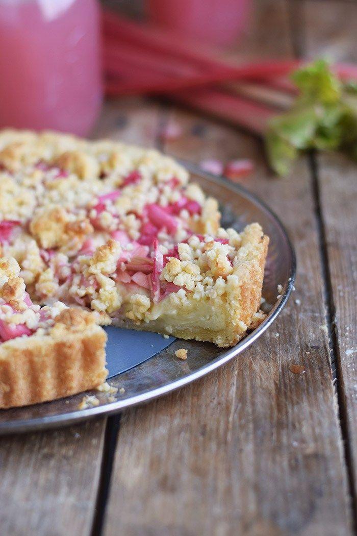 Rhabarber Streusel Tarte - Rhubarb Crumble Tart